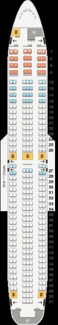 Boeing 767-300ER seat map